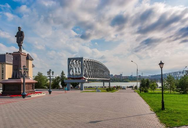 Old Railway Bridge Section, Novosibirsk, Novosibirsk Oblast, Russia